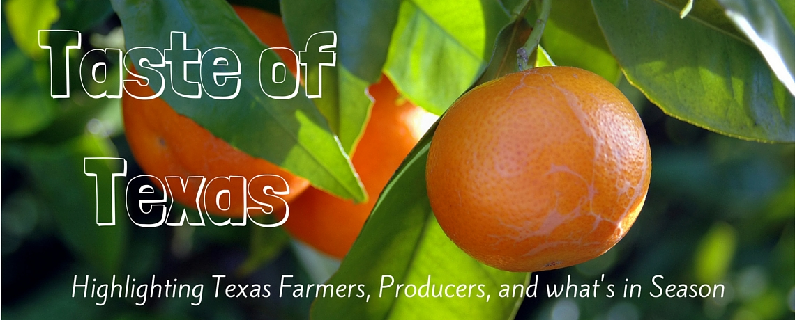 learn about recipes and in-season produce of Texas
