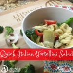 Quick Italian Tortellini Salad, a recipe by Dinner Tonight