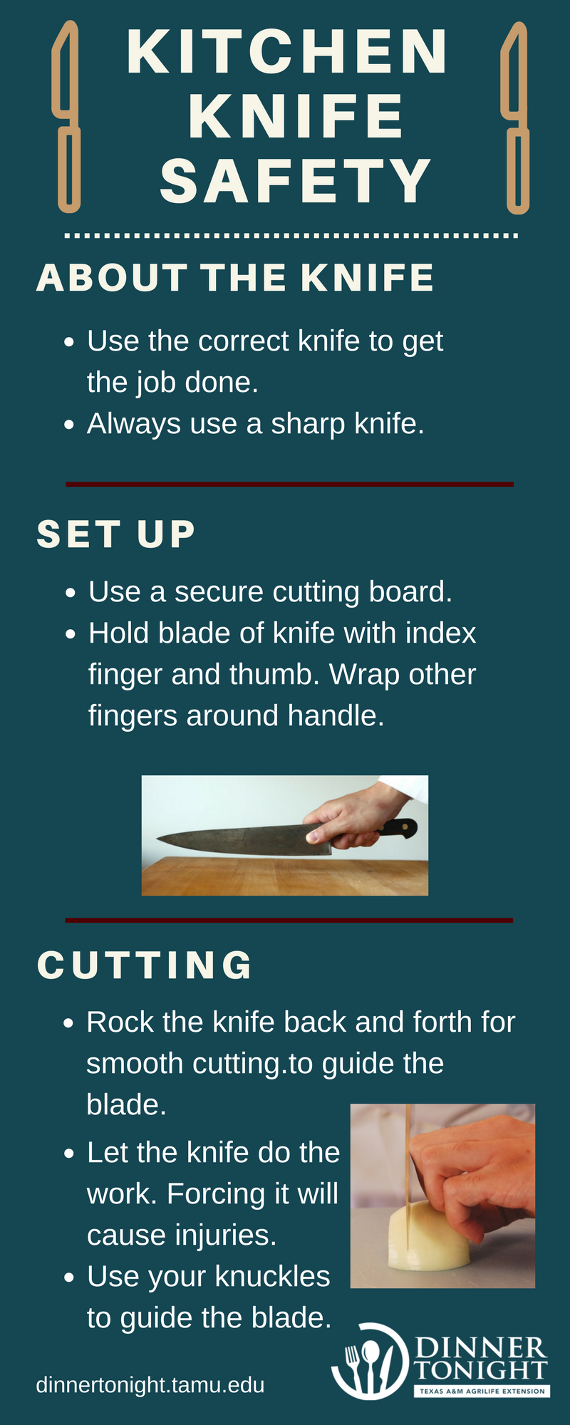kitchen-knife-safety-infographic | Dinner Tonight